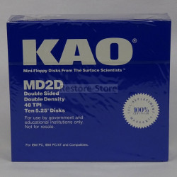 "10x Disketten 5,25"" DD ""KAO"""