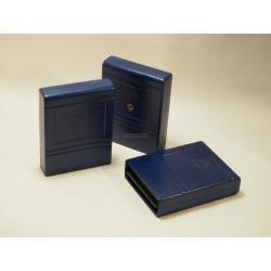 Modulgehäuse C64/C128 - blau - mit Labelfeld