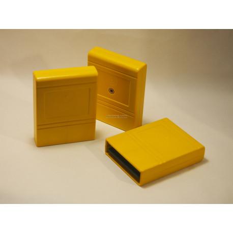 Modulgehäuse C64/C128 - gelb - mit Labelfeld