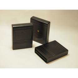 Modulgehäuse C64/C128 - schwarz - mit Labelfeld