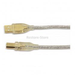 USB 2.0 Kabel A/B HAMA 1.8 Meter - transparent